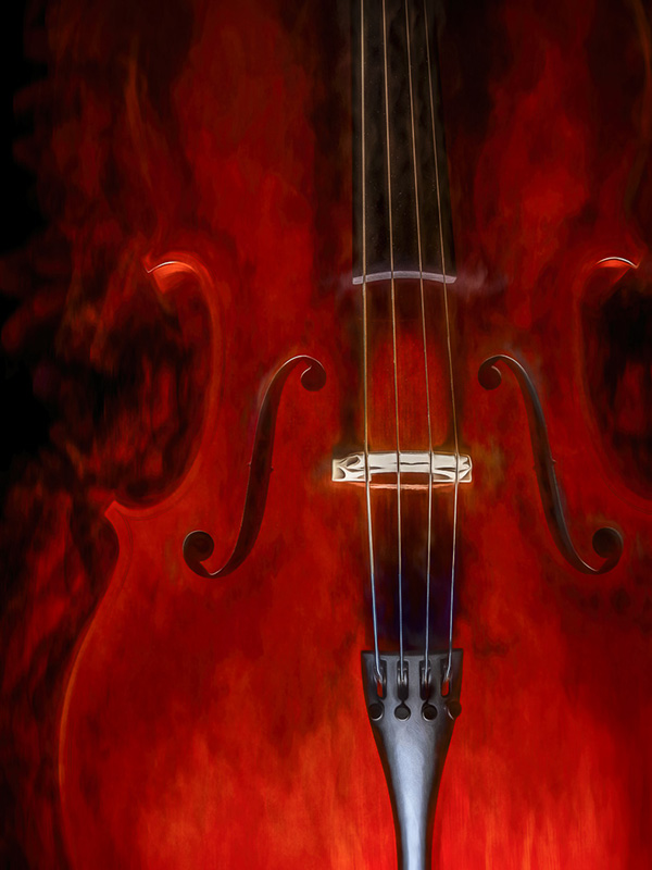"Judge's favourite – David – ""The Burning Violin"" by Judy Hancock Holland."